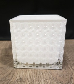 Square 15 Bead Glass Container