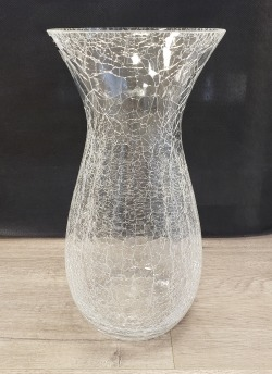 Crackle Flared Rose Vase