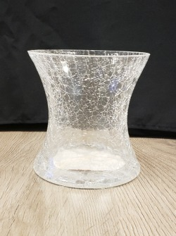 Small Crackle Trumpet Vase