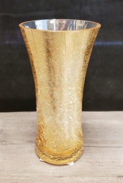 Crackle Trumpet Vase