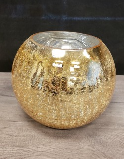 Crackle Glass Bowl