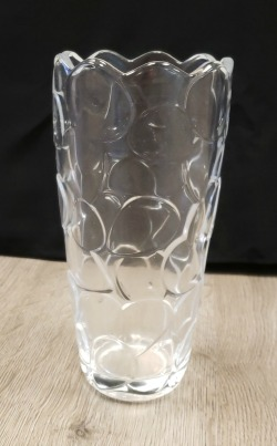 H25 GLASS CLEAR VASE 9.84in