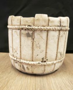 Ceramic Mossy Barrel Planter