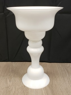 Large White Glass Compote