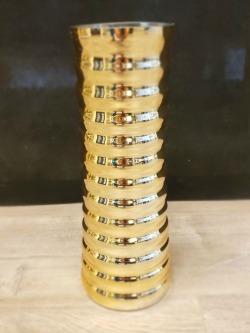 Metallic Groove Vase