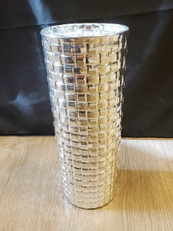 Weave Pattern Tapered Vase