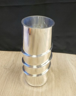 Cylinder Vase with Ring Detail
