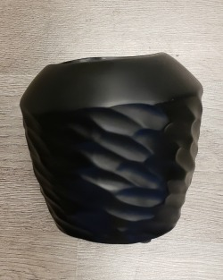 Matte Black Wrapped Design Planter